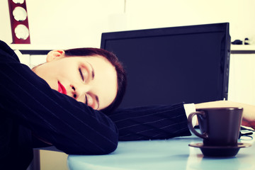 Sleeping in office.