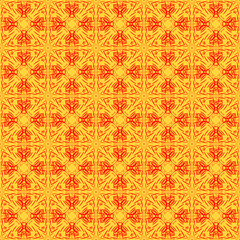 Red and gold seamless pattern.