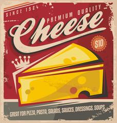 Cheese retro poster design
