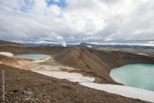 canvas print picture Viti crater at Krafla geothermal area, Iceland