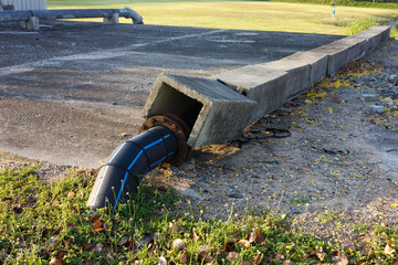 pipe and valve on the ground