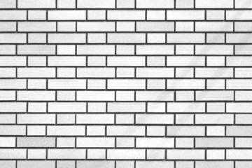 Tiled white brick wall and texture