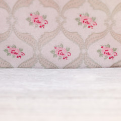 Vintage floral wallpaper with roses