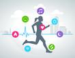 activity tracker 001 (woman) - suivi d'activité