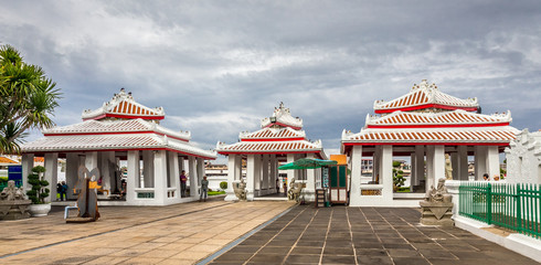 Three  pavilions in The Temple of Dawn
