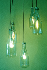 hanging lamp with light bulbs