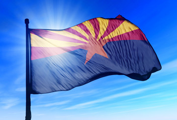 Arizona (USA) flag waving on the wind