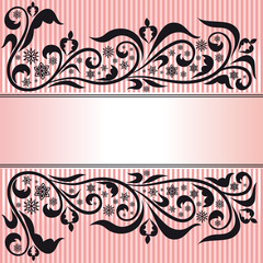 Ornamental pink background