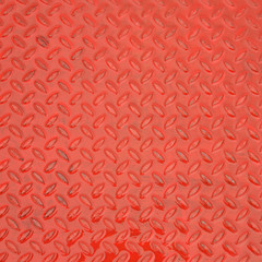 red steel metal plate