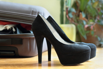 black female shoes