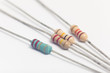 Leinwandbild Motiv Group of electronic resistors