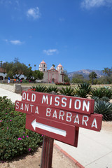 Historic Mission, Santa Barbara, California