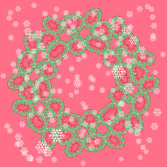 Vector snowflake and lace ornament
