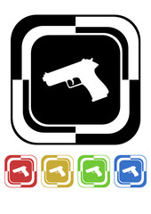Pistol button mosaic retro colors square