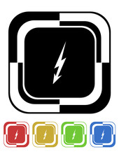 Electric button mosaic retro colors square