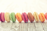 Fototapety Different kinds of macaroons