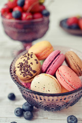 Macaroon with berries