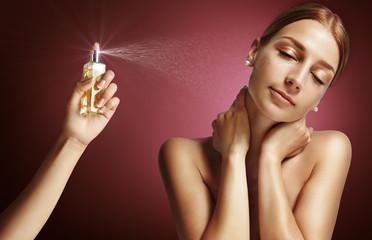 woman and parfume