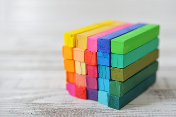 Multicolored cube