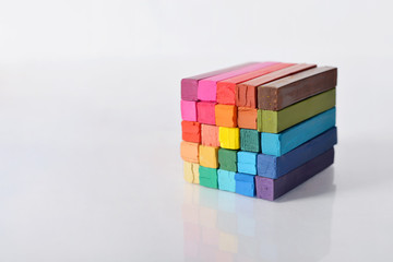 Multicolored artist's pastels