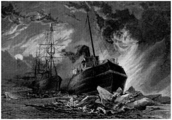 Ship : Icebreaker - Navire Brise-Glace - 19th century