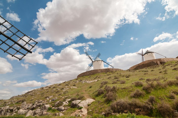 Old windmills on the hill