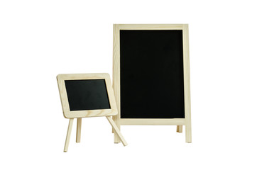 two small Blackboard isolated on white With Clipping Path