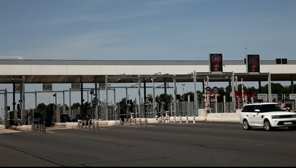 Toll station on the highway