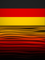 Germany Flag Wave Yellow Red Black Background