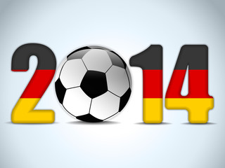 Germany 2014 Soccer with German Flag