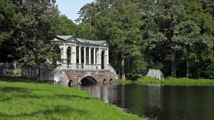 Marble (Palladian) Bridge,. Pushkin. Petersburg