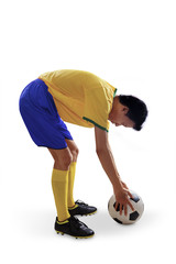Brazilian soccer player put soccer ball 1