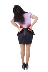 Businesswoman having backache