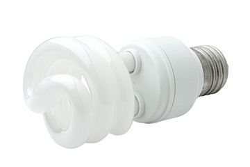 Spiral energy saving lamp.