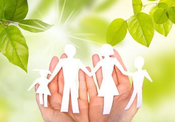 Familie in der Hand