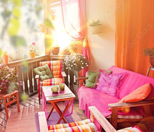 Fotobehang Tuin nice balcony 05