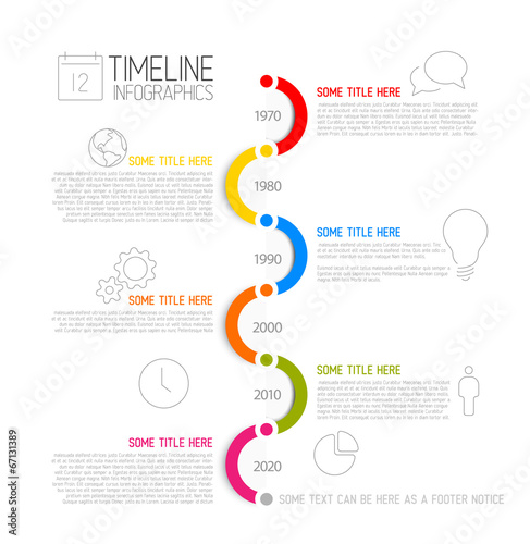 pr timeline template - infographic timeline report template stock image and
