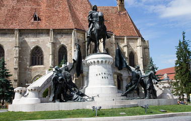 Statue of King Mathias (Matyas) in Cluj, Romania