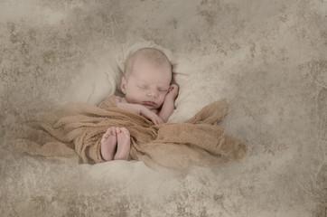 Schlafendes Neugeborenes