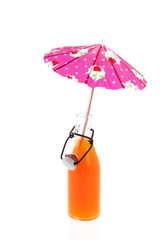 Bracket bottle soft drink and parasol