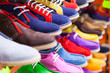 Leinwanddruck Bild - lots of sport shoes