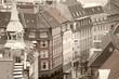 Copenhagen. Sepia tone filtered image.