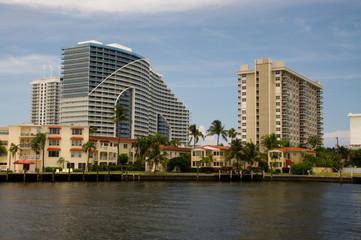 Fort Lauderdale, Kanal, Fluss, Wohngegend, Wohnsiedlung