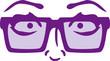 Frau Mädchen Girl Nerd Geek Hornbrille