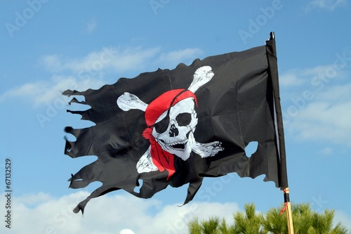 Poster Pavillon symbole de la piraterie