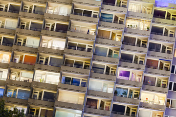 Highrise At Night Detail