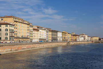 Panoramic of Pisa, Tuscany, Italy