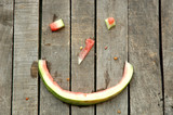 Smiley spontaneous made of watermelon peel and leftovers poster
