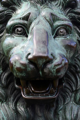 Stone figure of a lion in Stockholm Sweden