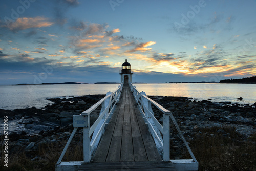 canvas print picture Marshall Point lighthouse